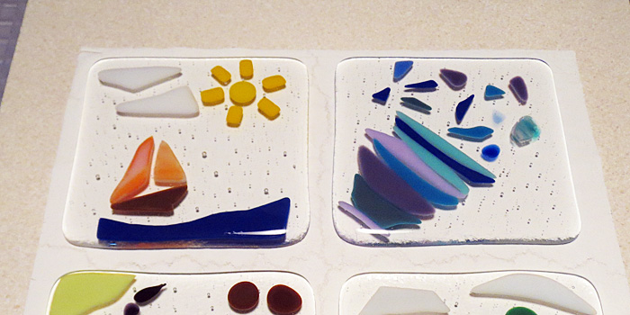 Family Fused Glass Coasters