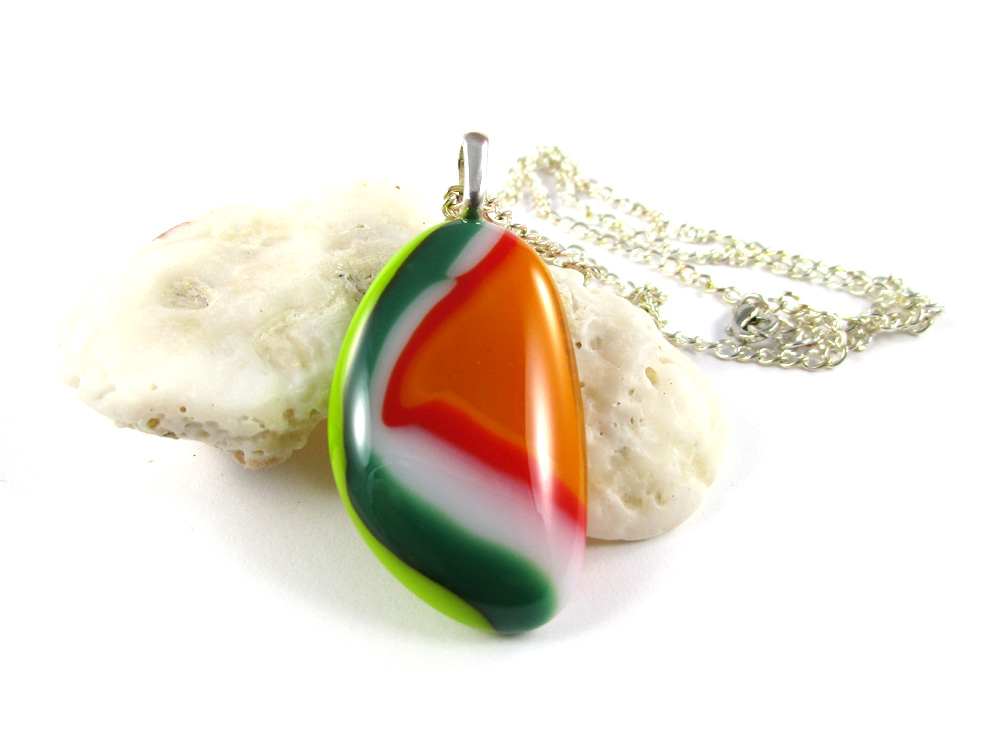 Spring Colours Striped Zebra Pendant