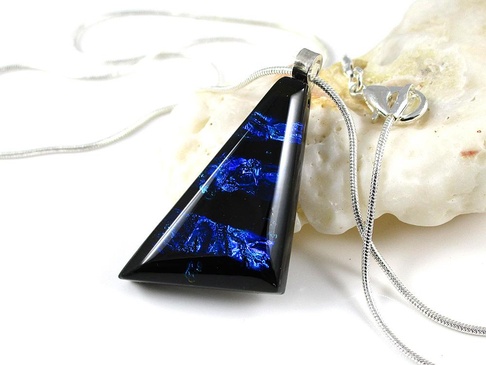 Blue Seams Faceted Jefanite™ Gem Pendant