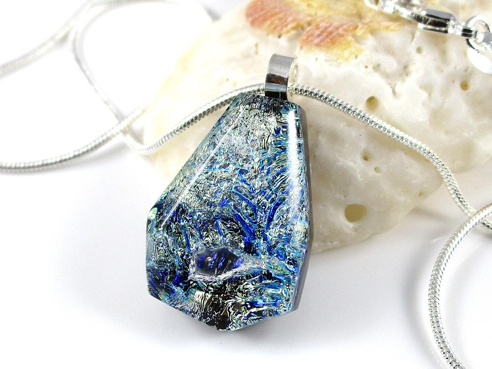 Silvery Lace Faceted Jefanite™ Gem Pendant