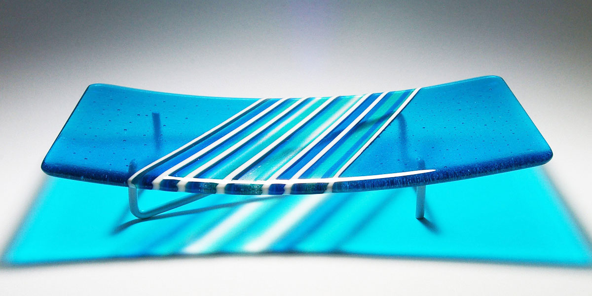 Blue Fused Glass Sky Tracks